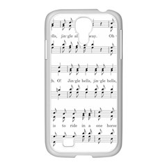 Jingle Bells Song Christmas Carol Samsung GALAXY S4 I9500/ I9505 Case (White)