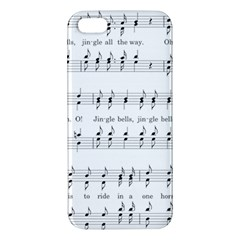 Jingle Bells Song Christmas Carol iPhone 5S/ SE Premium Hardshell Case