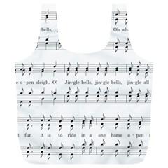 Jingle Bells Song Christmas Carol Full Print Recycle Bags (L)
