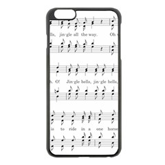 Jingle Bells Song Christmas Carol Apple iPhone 6 Plus/6S Plus Black Enamel Case