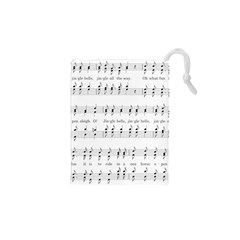 Jingle Bells Song Christmas Carol Drawstring Pouches (XS)