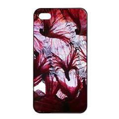 Jellyfish Ballet Wind Apple iPhone 4/4s Seamless Case (Black)