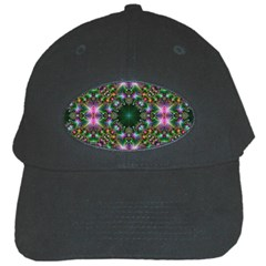 Digital Kaleidoscope Black Cap