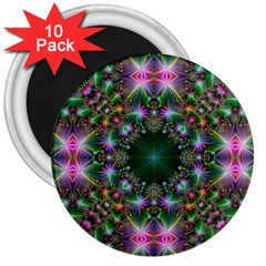 Digital Kaleidoscope 3  Magnets (10 pack)