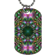 Digital Kaleidoscope Dog Tag (One Side)