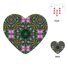 Digital Kaleidoscope Playing Cards (Heart)