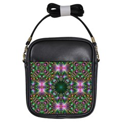 Digital Kaleidoscope Girls Sling Bags