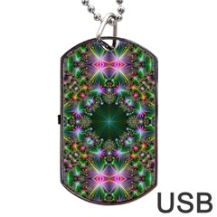 Digital Kaleidoscope Dog Tag USB Flash (Two Sides)