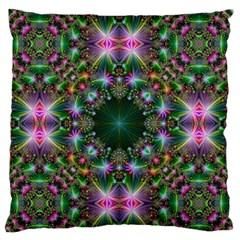 Digital Kaleidoscope Large Flano Cushion Case (One Side)