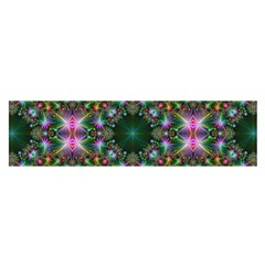 Digital Kaleidoscope Satin Scarf (oblong)