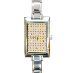 Pattern Background Retro Rectangle Italian Charm Watch
