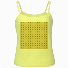 Pattern Background Retro Yellow Spaghetti Tank