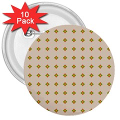 Pattern Background Retro 3  Buttons (10 pack)