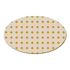 Pattern Background Retro Oval Magnet