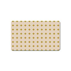 Pattern Background Retro Magnet (Name Card)