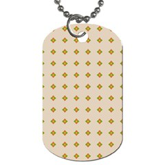 Pattern Background Retro Dog Tag (Two Sides)