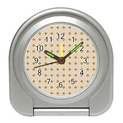 Pattern Background Retro Travel Alarm Clocks
