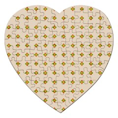 Pattern Background Retro Jigsaw Puzzle (Heart)