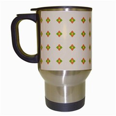 Pattern Background Retro Travel Mugs (white)