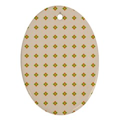 Pattern Background Retro Oval Ornament (Two Sides)