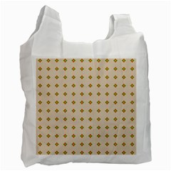 Pattern Background Retro Recycle Bag (one Side)