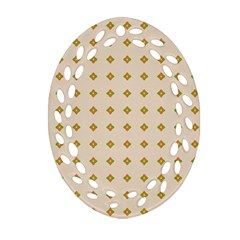 Pattern Background Retro Oval Filigree Ornament (Two Sides)