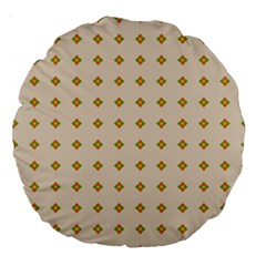 Pattern Background Retro Large 18  Premium Round Cushions