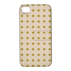 Pattern Background Retro Apple iPhone 4/4S Hardshell Case with Stand