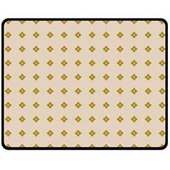 Pattern Background Retro Double Sided Fleece Blanket (Medium)