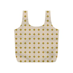 Pattern Background Retro Full Print Recycle Bags (S)
