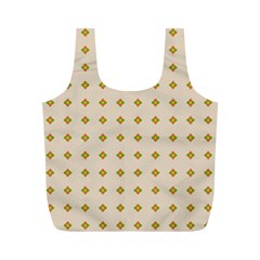 Pattern Background Retro Full Print Recycle Bags (M)