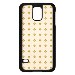 Pattern Background Retro Samsung Galaxy S5 Case (Black)