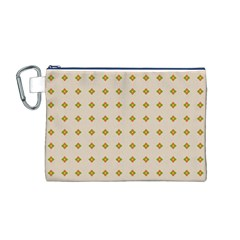 Pattern Background Retro Canvas Cosmetic Bag (M)