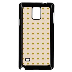 Pattern Background Retro Samsung Galaxy Note 4 Case (Black)