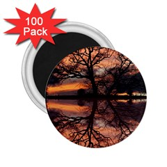 Aurora Sunset Sun Landscape 2 25  Magnets (100 Pack)