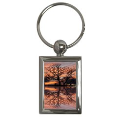 Aurora Sunset Sun Landscape Key Chains (rectangle)
