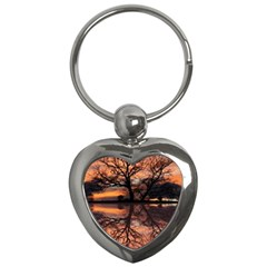 Aurora Sunset Sun Landscape Key Chains (heart)