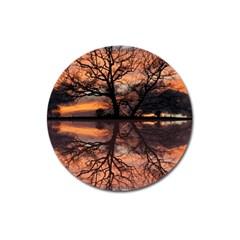 Aurora Sunset Sun Landscape Magnet 3  (Round)