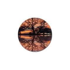 Aurora Sunset Sun Landscape Golf Ball Marker (4 pack)