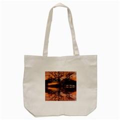 Aurora Sunset Sun Landscape Tote Bag (cream)