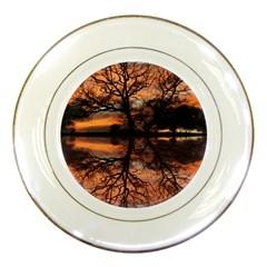 Aurora Sunset Sun Landscape Porcelain Plates