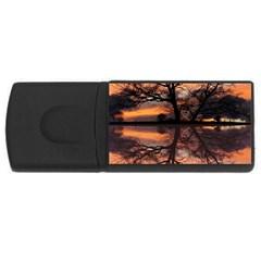 Aurora Sunset Sun Landscape USB Flash Drive Rectangular (4 GB)