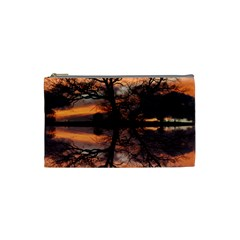 Aurora Sunset Sun Landscape Cosmetic Bag (Small)