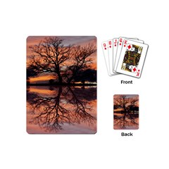 Aurora Sunset Sun Landscape Playing Cards (Mini)