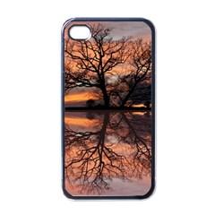 Aurora Sunset Sun Landscape Apple iPhone 4 Case (Black)