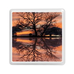 Aurora Sunset Sun Landscape Memory Card Reader (square)