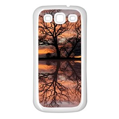 Aurora Sunset Sun Landscape Samsung Galaxy S3 Back Case (White)