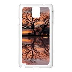 Aurora Sunset Sun Landscape Samsung Galaxy Note 3 N9005 Case (White)