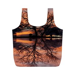Aurora Sunset Sun Landscape Full Print Recycle Bags (M)