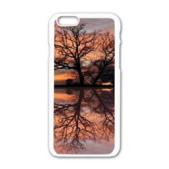 Aurora Sunset Sun Landscape Apple Iphone 6/6s White Enamel Case